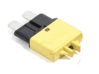 ATO/ATC 20 AMP Low Profile Manual Reset Circuit Breaker (Yellow) 1 each