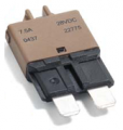 ATO/ATC 7.5 AMP Low Profile Manual Reset Circuit Breaker (Brown) 1 each
