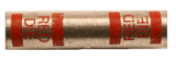 8 Gauge Heavy Duty Seamless Butt Connector (Red)