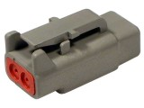 DTM06-2S Plug 2 Way Deutsch Connector DTM Series