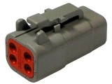 DTM06-4S Plug 4 Way Deutsch Connector DTM Series