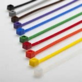 "7"" Colored Cable Tie Kit 1,000 pieces (10 colors)"